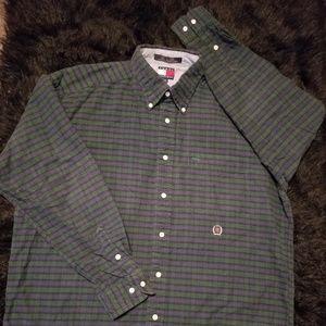 Tommy Hilfiger Vintage 90s Plaid Button Down Shirt